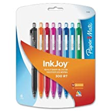 Paper Mate InkJoy 300 RT Retractable Medium Point Ballpoint Pens, Assorted Colors, 8 Pack (1781564) by Sanford