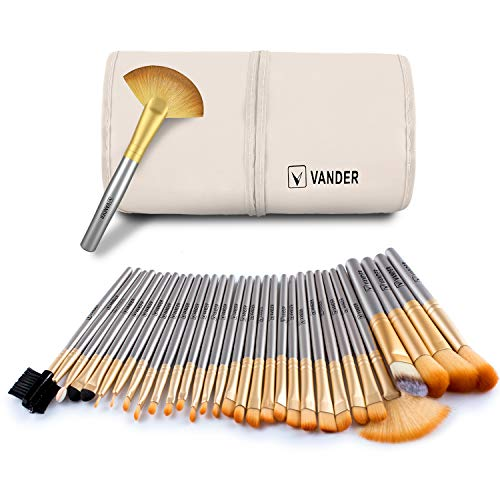 Makeup brushes Set With Case Bag-32 Piece By Vander (Set Piece 32 Makeup Beauty)
