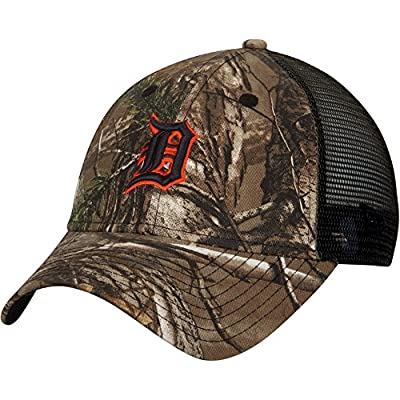 Detroit Tigers Realtree Camo Trucker 9FORTY Adjustable Hat / Cap by New Era