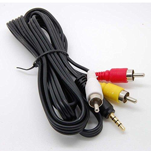 NewPowerGear 3.5mm RCA A/V AV Video Stereo Audio Cable for GZ-RX110,GZ-RX110AG,GZ-RX110BE