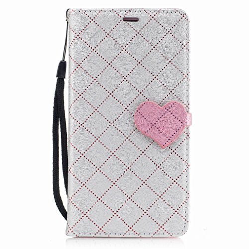 Yiizy Huawei Honor 6X (Huawei GR5 2017) Custodia Cover, Amare Design Sottile Flip Portafoglio PU Pelle Cuoio Copertura Shell Case Slot Schede Cavalletto Stile Libro Bumper Protettivo Borsa (Grigio)