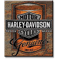 Harley Davidson Oil Can Label Sign Tin Sign 13 x 15in