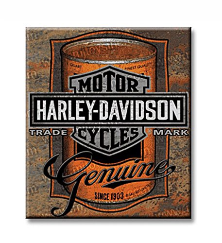 Harley Davidson Oil Can Label Sign Tin Sign 13 x 15in by Harley-Davidson