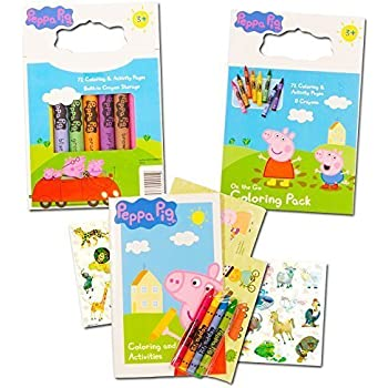 peppa pig coloring book set with peppa pig stickers and crayons includes bonus pack of - Peppa Pig Coloring Book