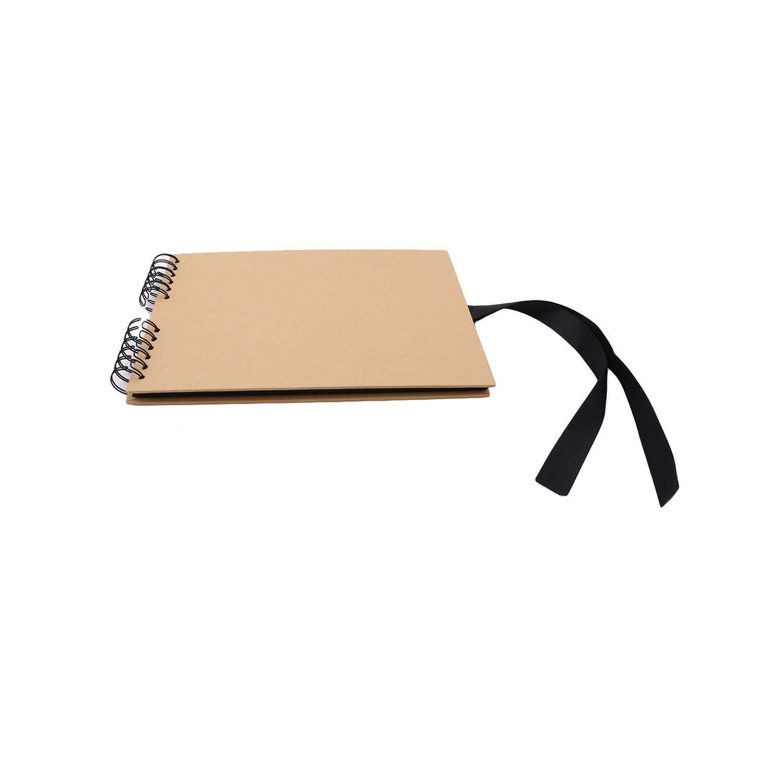 Photo Album Kraft Paper Album DIY Handmade Wedding Guest Book Travel Memory Book Album,20 Pages