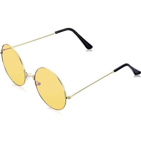 Koowaa Gafas de Sol Redondas Retro, Gafas de Sol Estilo ...