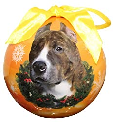 Pit Bull Christmas Ornament Shatter Proof Ball