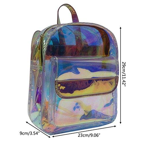 Tyjie Women Backpack Korean Transparent Travel Waterproof Shoulder School Bag by Tyjie (Image #6)