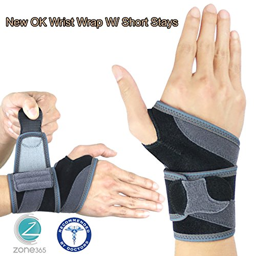 Price comparison product image Wrist Wrap with Removeable Stays ES-326,  Breathable Hypoallergenic Material,  For Support,  Protection,  and Recovery