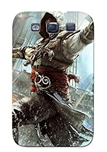 AmosdmO6223DLcby Case Cover Assassin Creed Iv Black Flag Compatible With Galaxy S3 Protective Case