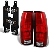 Chevy C/K Series Pickup Truck Red Clear Tail Lights with Connector Plate Completed Assemblies