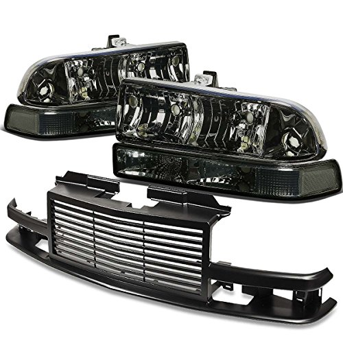 - For Chevy S10/Blazer GMT 325/330 Headlight (Smoke Lens)+Front Grille (Black)