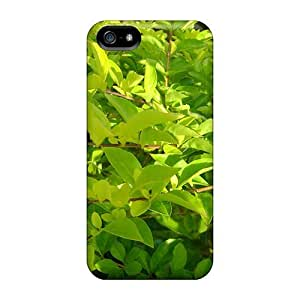 Slim Fit Tpu Protector Shock Absorbent Bumper Folhas Case For Iphone 5/5s