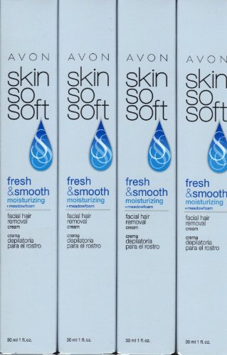 Avon Skin So Soft Facial Hair Removal Cream Lot of (Soft Facial Hair)