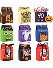 TOYANDONA Halloween Candy Bags Treat Bags 40pcs Halloween Snacks Boxes Goodies Cookie Containers for Party Favor Decorations