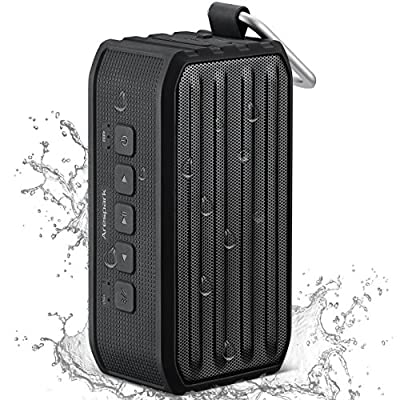 [Waterproof Bluetooth Speaker] Arespark Portable Wireless Bluetooth 4.0 Speaker with 12 Hours Playtime,7W Dual Stereo Bass Radiator,IPX4 Outdoor/Shower Use,NFC,Built-in Mic,SD/TF card Play,Remote Shutter Control,Compatible with All Bluetooth Devices