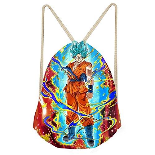 GreenSun(TM) 3D Anime Dragon Ball Super Print Boys Girls Drawstrings Bags Casual Storage Backpacks Saiyan Sun Goku Kid (Dragon Ball Carts)