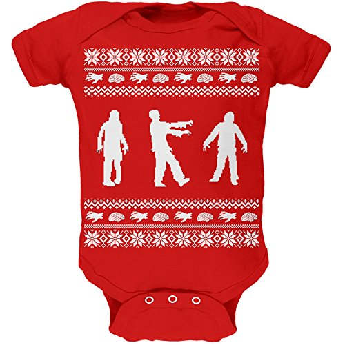 Zombie Ugly Christmas Infant Bodysuit