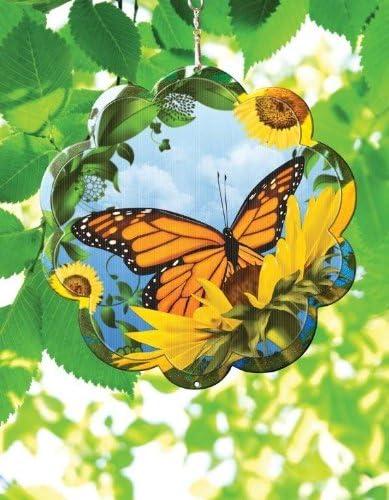 Iron Stop 25 cm Motif Papillon danimation à vent -ad 120–10 Disque inox: Amazon.es: Jardín