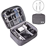 OrgaWise Electronics Organizer, Electronic Accessories Bag Travel Cable Organizer Three-Layer for iPad Mini, Kindle, Hard Drives, Cables, Chargers (Two-Layer-Grey)