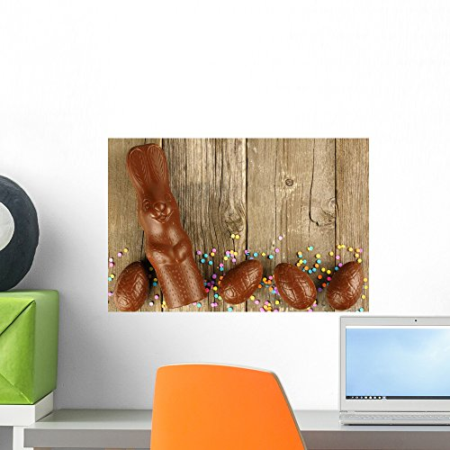 Wallmonkeys Chocolate Easter Eggs and Wall Mural Peel and St