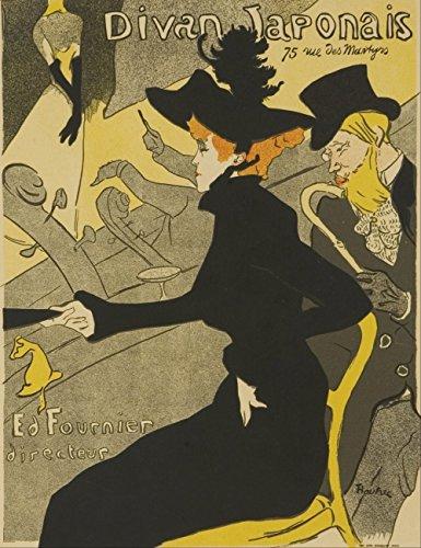 Henri Toulouse Lautrec - Le Divan Japonais - Large - Semi Gloss - Unframed Vintage Wall Art Poster Picture Giclee Artwork Modern Contemporary & Fine Art Print ()
