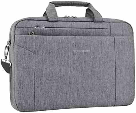 KROSER Laptop Bag 15.6 Inch Briefcase Shoulder Messenger Bag Water  Repellent Laptop Bag Satchel Tablet Bussiness e8b0f2073e45b