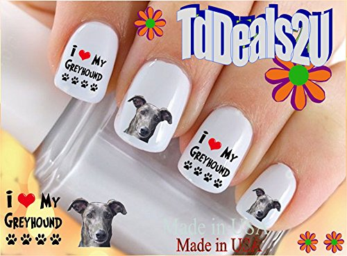 greyhound-i-love-dog-breed-nail-decals-waterslide-nail-art-decals-highest-quality-made-in-usa