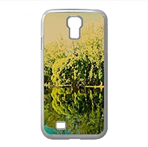 Trees Lake Reflection Watercolor style Cover Samsung Galaxy S4 I9500 Case (Lakes Watercolor style Cover Samsung Galaxy S4 I9500 Case)