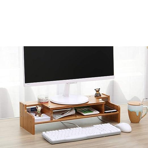 QTQHOME Woody Soporte De Monitor con Cajón,Notebook TV Impresora ...