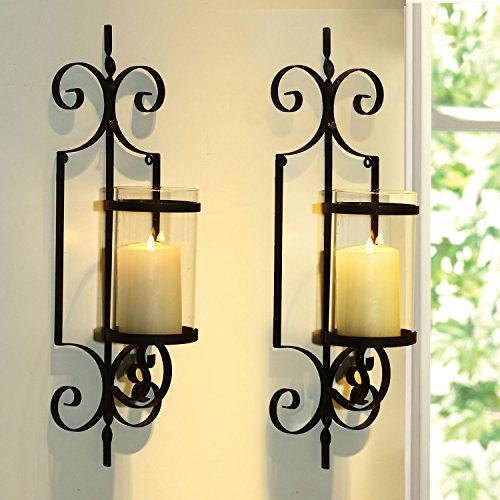 Wall Sconces Kitchen: FrameArmy Cast Iron Vertical Wall Hanging Accents Candle