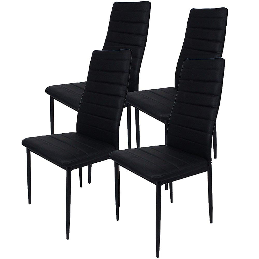 ダイニングチェア 06 【黒】4脚セット / 椅子 / DC-06-BK / ###チェアDC-06黒x4◆### B07B47RC16