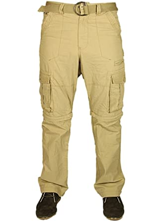 1da93b02d0 Kam Mens 2 in 1 Trousers to Shorts Casual Cargo Combat Pockets Pants with  Belt 28-60: Amazon.co.uk: Clothing
