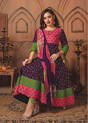 anarkali suits ready made cotton - 8