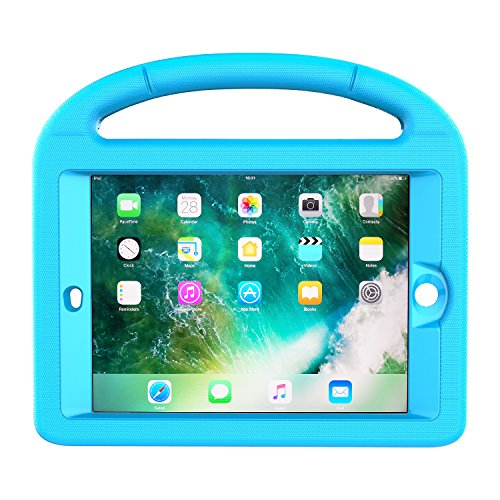 LEDNICEKER Kids Case for iPad Mini 1 2 3 - Built-in Screen Protector Light Weight Shock Proof Handle Friendly Convertible Stand Kids Case for iPad Mini, iPad Mini 3, iPad Mini 2 - Blue by LEDNICEKER (Image #3)