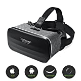 3D Virtual Reality Headset, HAMSWAN VR Goggles VR Glasses VR Headset for TV, Movies & Video Games - Light Weight VR Goggles Compatible with iOS, Android and Other Phones within 4.0-6.0 Inch
