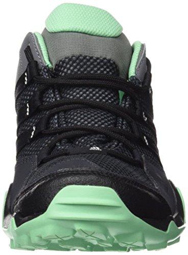 adidas AX2, Scarpe da Arrampicata Donna Multicolore (Gris / Negro / Verde (Grivis / Negbas / Briver))