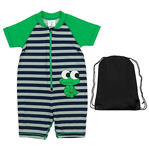 Frog Coverall - Kiko & Max Kids Bathing Suit One Piece Coverall Sunsuit Rashguard Sun Protection Sun and Swimwear Frog 18