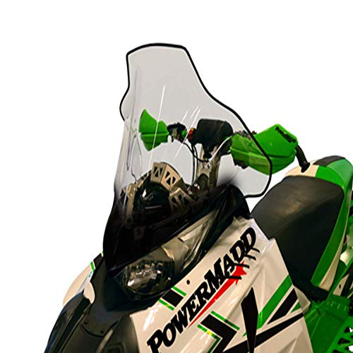 (Cobra Windshield - 17in. - Clear with Black Fade 2013 Arctic Cat ProClimb XF 800 Sno Pro High Country Snowmobile)