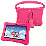 Ufinetec Kids Tablet Pre-installed 3D AR Zoo and iWawaHome APP, Android 6.0, 7-inch IPS Display RAM 1GB ROM 8GB Playstore WiFi Bluetooth, Kids-proof Case with Handle and Stand(Pink)
