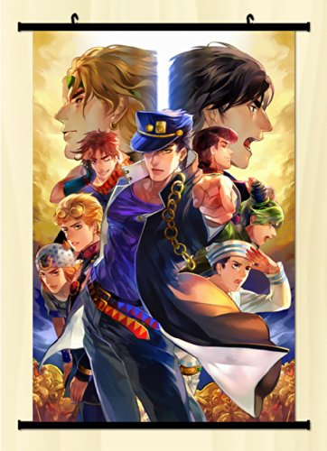 Home Decor Anime JoJo's Bizarre Adventure Wall Scroll Poster Fabric Painting Key Roles 23.6 X 35.4 Inches -30