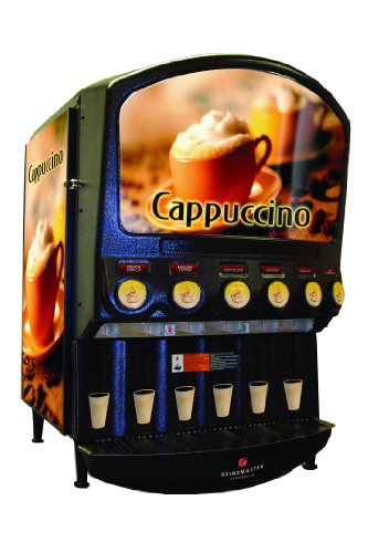 Grindmaster-Cecilware PIC6 6 Flavor Hot Powder Cappuccino, Hot Chocolate Specialty Beverage Dispenser
