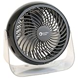 Comfort Zone 6'' Deco Turbo Fan, 4 pack, Assorted Colors - Lot of 4