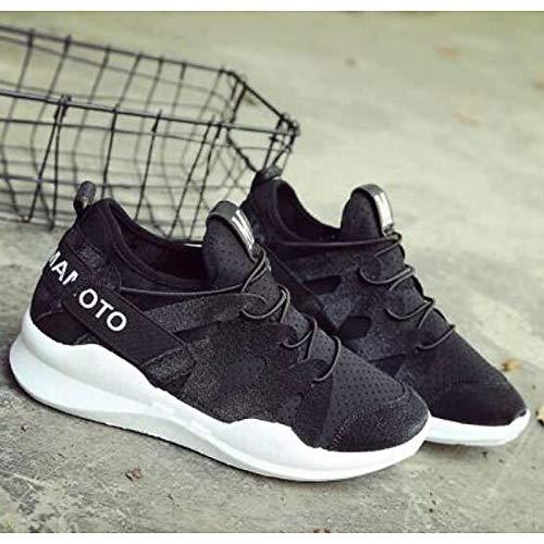 Flat Comfort Negro PU Zapatos Blanco Poliuretano negro Negro Comfort ZHZNVX Spring 03bc50