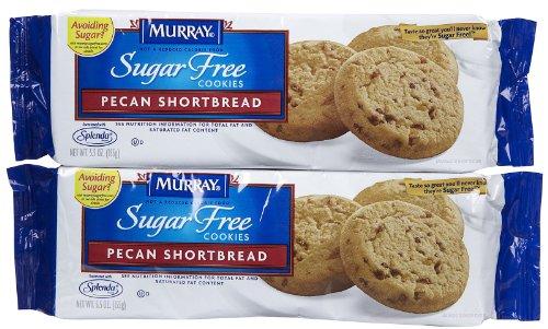 Murray Sugar Free Cookies - Pecan Shortbread - 5.5 oz - 2 Pack