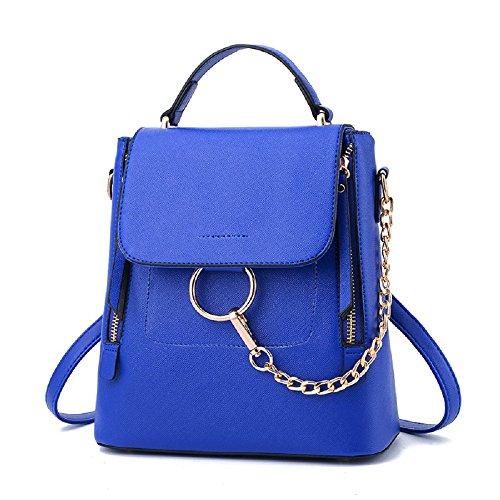 Bague pour femme sac à dos multifonction épaule bandoulière sac à dos sac de voyage épaule sac de messager Capacité inférieure à 20L Blue-hand