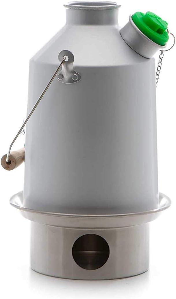 Scout Kelly Kettle ® 1.2ltr (aluminio) - Camping hervidor de agua y estufa de campamento en uno. Ultra rápido ligera madera estufa alimentada. ...