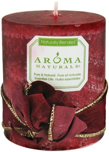 Aroma Naturals - Peace Ruby Holiday Naturally Blended Pillar