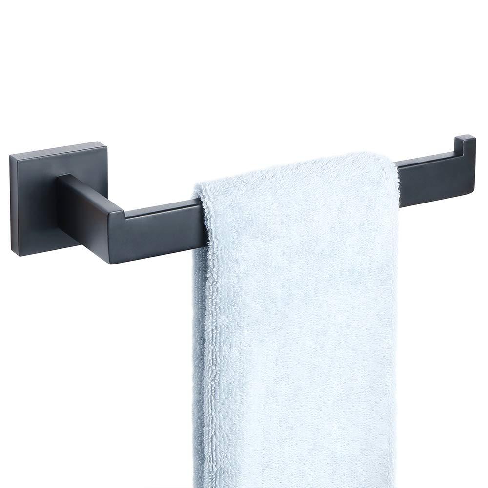 Sayayo Towel Ring Towel Holder Wall Mounted, Stainless Steel Matte Black, CGS7010-B