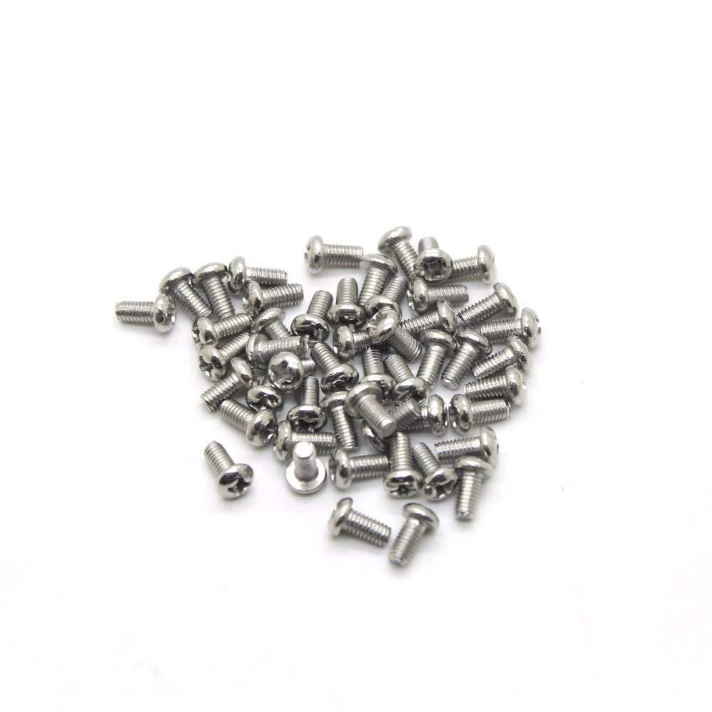 Screws 50pcs//lot M2.54//5//6//8//10//12//16//20mm Bolts Screw Spike Round Head Screw 2.5mm CPC223